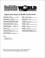 Engine Dyno-Test