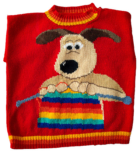 knitted gromit knitting