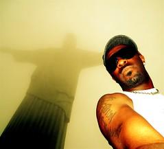 Self shot with Jesus, Rio de Janeiro