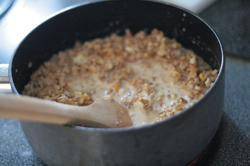 Corn cooking on stove