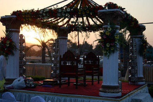 The altar at a wedding in India