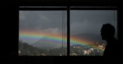 rainbow from office