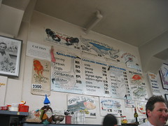 The menu in the Swan Oyster Depot