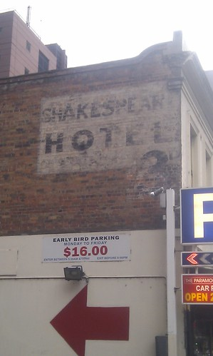 Ghost of Shakespeare Hotel, Exhibition Street by bookgrrl99