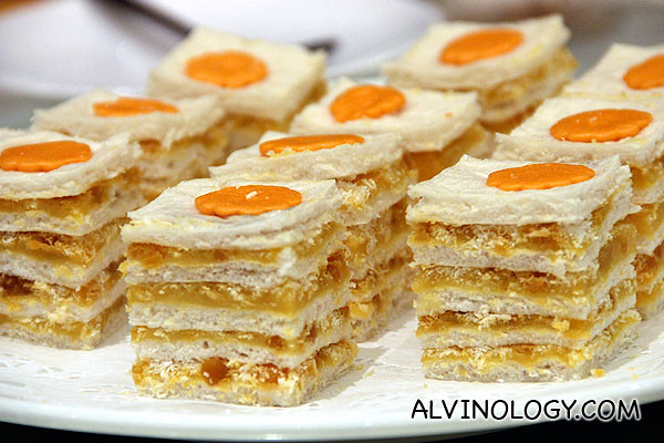 Salted egg layered kueh - my favourite dish