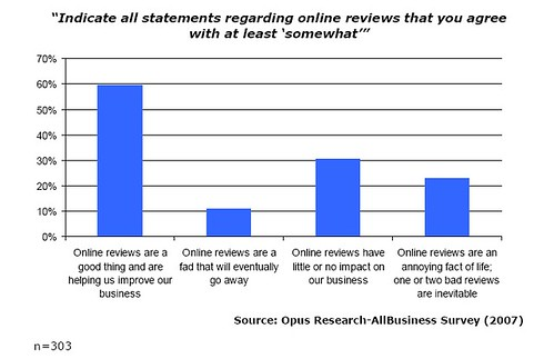 Attitude of SMBs toward user reviews