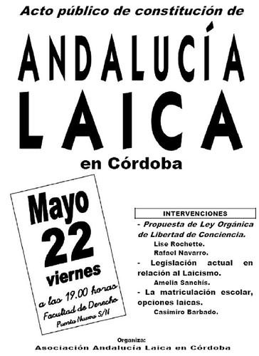 Acto Constitucion Andalucía Laica.