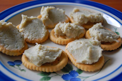 Bean Spread on Crackers