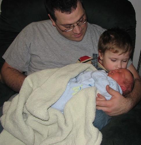 Jacob gives James kisses