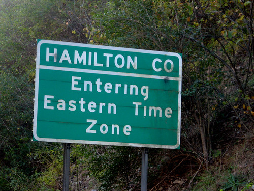 hwy 41 road trip-time zone sign 1