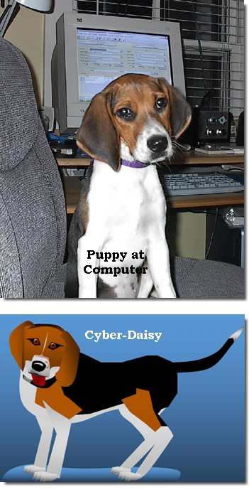 Daisy Pup & Cyber Daisy ©2007 New Codgers