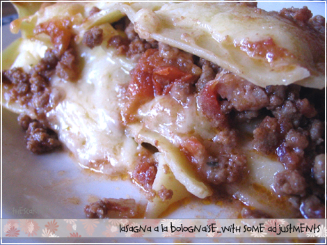 Lasagna a la bolognaise