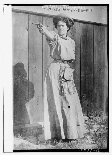 Mrs. Adolph Topperwein. [with gun] (LOC)