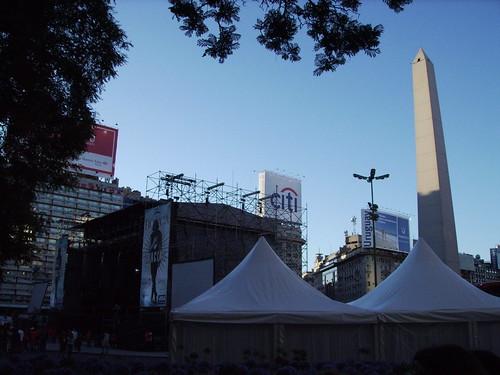 podium voor de Obelisco @ Av.9 de Julio