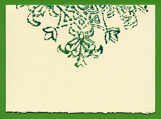 Evergreen Baroque notecard
