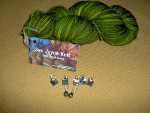 See Jayne Knit Yarn and Stitch Markers