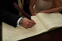 Signing of Marriage License