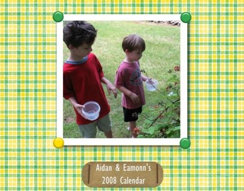 2008 Calendar Cover