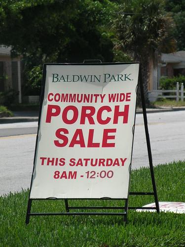 Baldwin Park Porch Sale