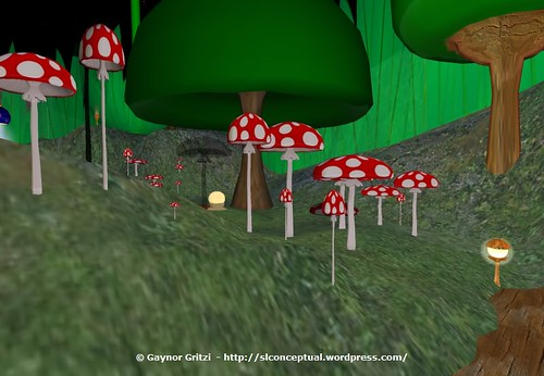 Magic Mushrooms Invade Garden