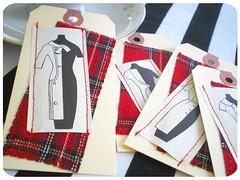 retro dressmaker tags
