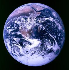 Earth, courtesy Apollo 17