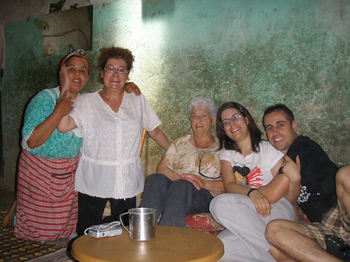 Mama, Toni, iaia Maria, Difda i Guillem a casa la Mama