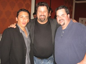 Brian Solis, Chris Heuer and Jason Falls networking