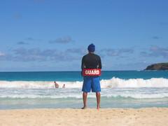 Baywatch style on Playa Flamenco, Culebra