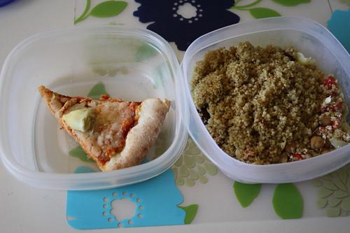 pizza, quinoa