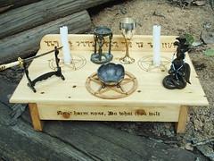 Wiccan Altar Set Up