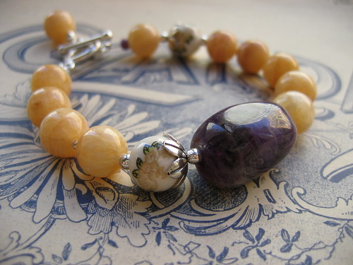 Giverny bracelet in yellow/amethyst