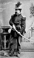 His Majesty Emperor Norton, seen here posing with a Sword