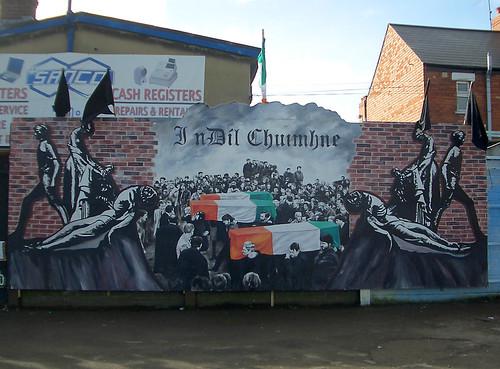 Hungerstreik Wandbild Belfast - IRA Gibraltar-Three mural por PPCC Antifa.