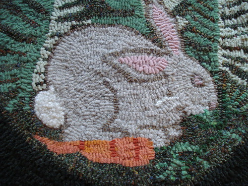 Close-up on the rabbit