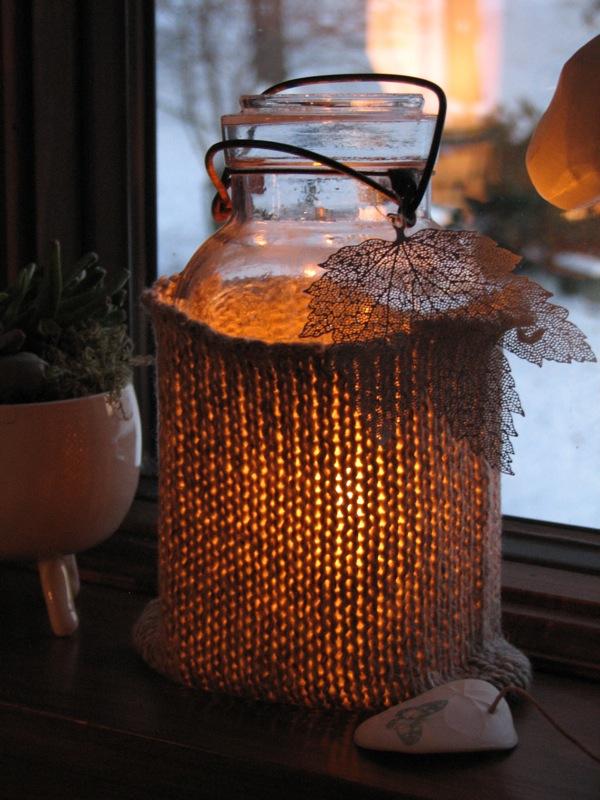 Cozy Candle Jars {DIY}