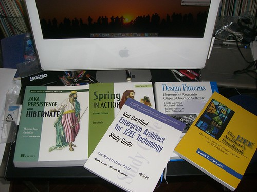 My new books, with the mac.