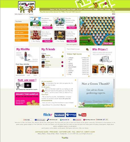 Cafe.com home page
