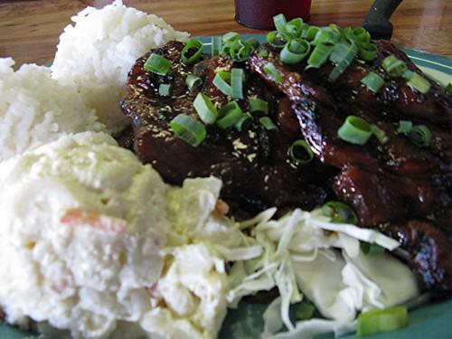 Korean pork plate lunch