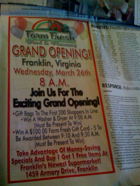 Farm Fresh Grand Opening