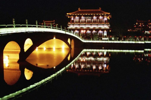 Xian...by night...the bridge