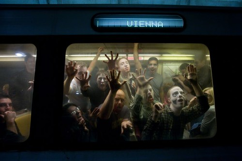 zombies on the orange line by James Calder