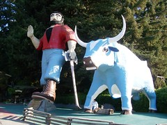 Paul Bunyan and his big blue ox, several stori...