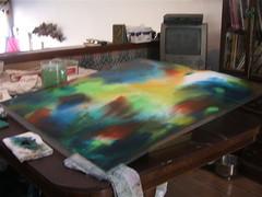 Koi painting wip
