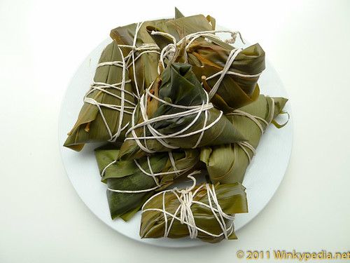 Chinese bamboo leaf-wrapped dumplings 糉子