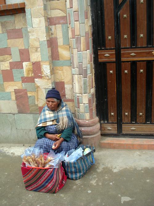 lady on sidewalk