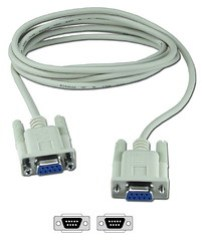 6ft DB9 Female to Female Serial RS232 Null Modem Cable