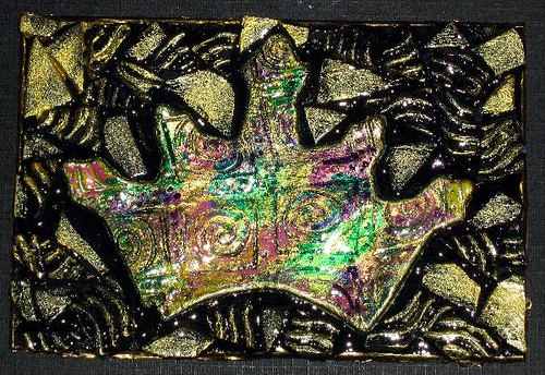 Polymer Clay Brocade Crown Plaque