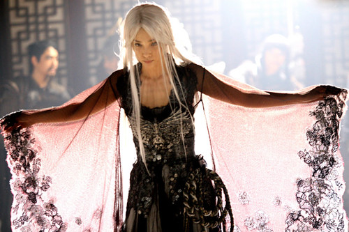 Li Bingbing as the White Haired Bounty Hunter