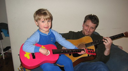 Owen and Daddy Jam